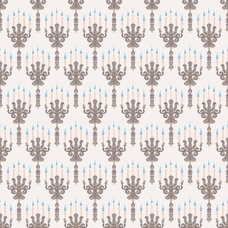 Ghost Candles fabric by siya on Spoonflower - custom fabric