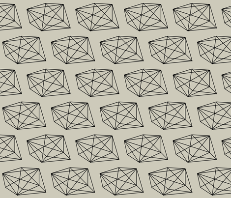 rough_cut_diamond black fabric by ninaribena on Spoonflower - custom fabric
