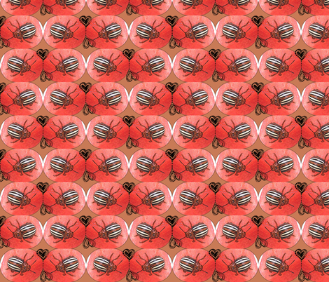 Love Bugs fabric by robin_rice on Spoonflower - custom fabric