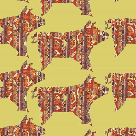 Rugged Piggy fabric by david_kent_collections on Spoonflower - custom fabric