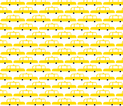 NYC Taxis fabric by amywalters on Spoonflower - custom fabric