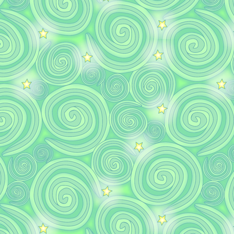 ©  2011 Elfin Sky fabric by glimmericks on Spoonflower - custom fabric