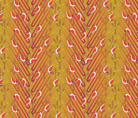 © 2011 The Elusive Hairpin Tern fabric by glimmericks on Spoonflower - custom fabric