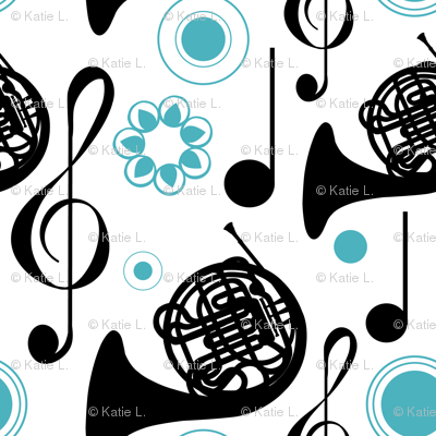 Horn Notes in blue and black