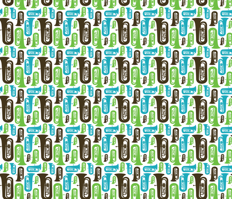 Tubas fabric by marchingbandstuff on Spoonflower - custom fabric