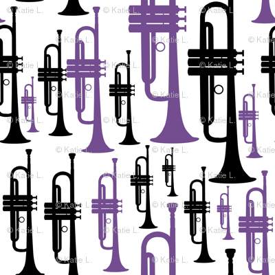 Trumpets - Purple and Black