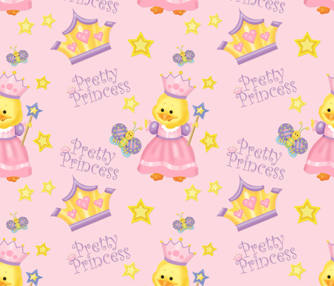 Pretty Princess Duckling Pink fabric by spicetree on Spoonflower - custom fabric