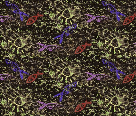 Fish by moonlight fabric by nalo_hopkinson on Spoonflower - custom fabric