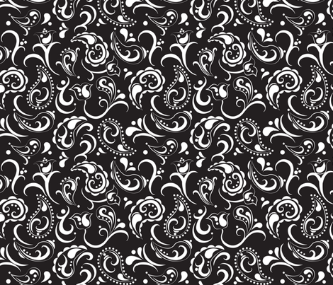 Midnight Paisley fabric by aimeemarie on Spoonflower - custom fabric