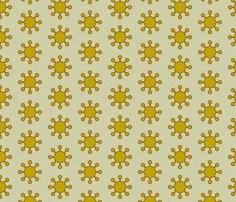 little_suns_linen fabric by holli_zollinger on Spoonflower - custom fabric