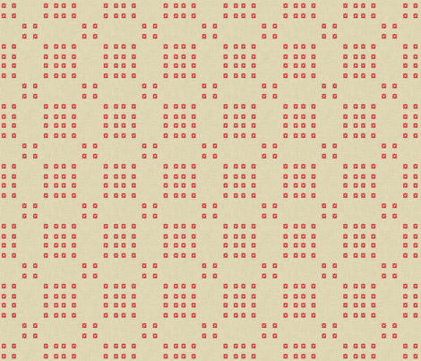 red_bursts_linen fabric by holli_zollinger on Spoonflower - custom fabric