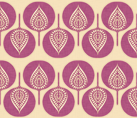 tree_hearts_purple_linen fabric by holli_zollinger on Spoonflower - custom fabric