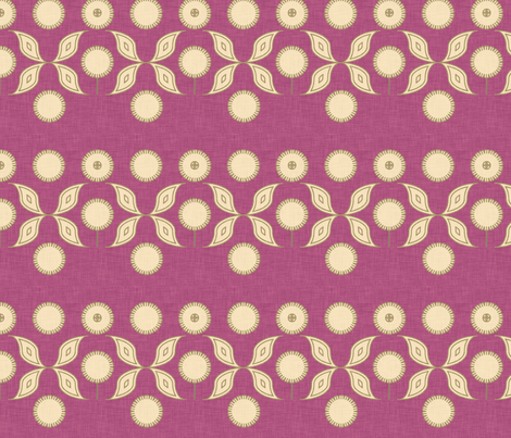 eggplant_floral fabric by holli_zollinger on Spoonflower - custom fabric