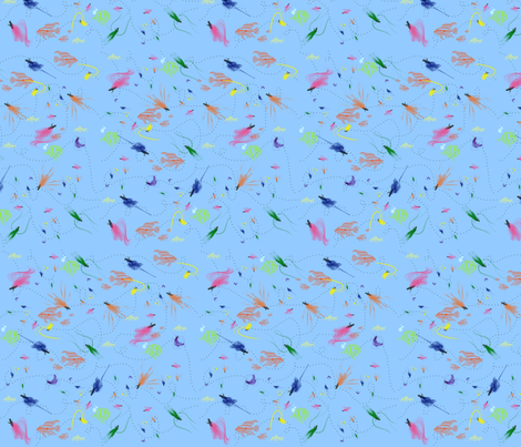 Lure ya to the fishing hole fabric by tracydw70 on Spoonflower - custom fabric