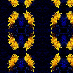 blue-sunflower-design