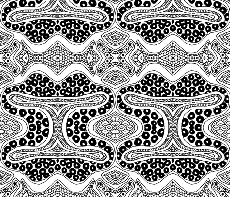 zent4ngle - colouring in fabric by wiccked on Spoonflower - custom fabric