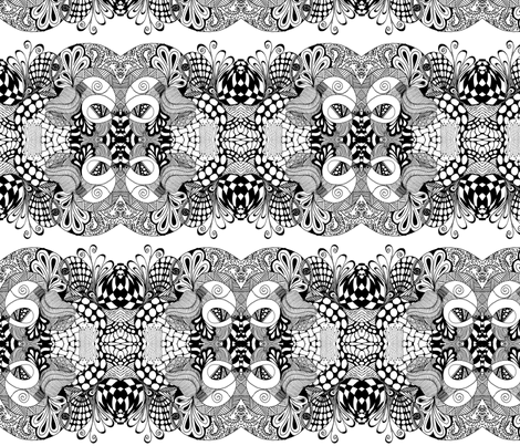 bl4ck and wh1te fabric by wiccked on Spoonflower - custom fabric