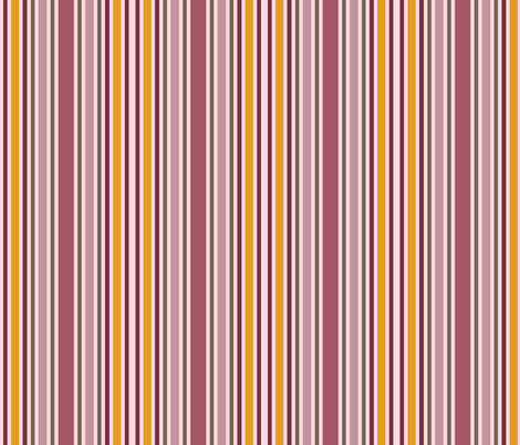 Charlotte Bronte's Wild Roses Stripe fabric by peacoquettedesigns on Spoonflower - custom fabric