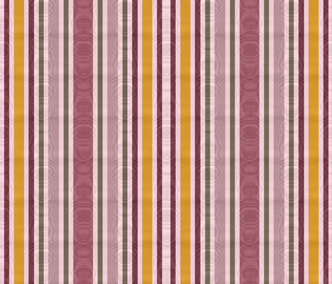 Charlotte Bronte's Wild Roses Moire Stripe fabric by peacoquettedesigns on Spoonflower - custom fabric