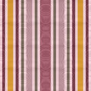 Charlotte Bronte's Wild Roses Moire Stripe