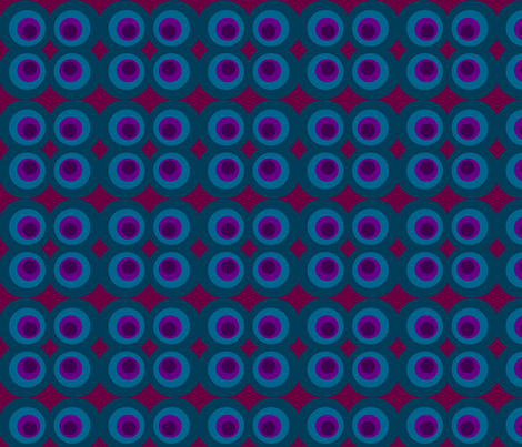 Blue Purple Circle fabric by vidaliah on Spoonflower - custom fabric