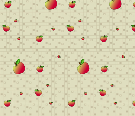 © 2011 An Apple a Day - Companion Apple Fabric-large fabric by glimmericks on Spoonflower - custom fabric