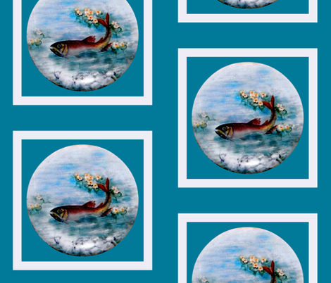 Gone Fishing / block fabric by paragonstudios on Spoonflower - custom fabric
