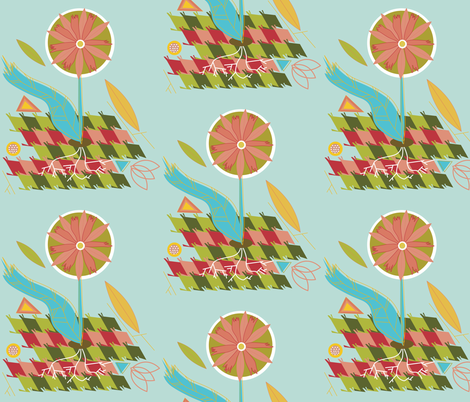 putting down roots fabric by junej on Spoonflower - custom fabric