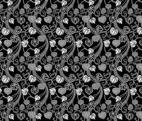 Sweetheart Vines fabric by kdl on Spoonflower - custom fabric