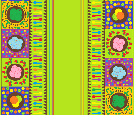 Ice Cream Party Theme fabric by tylerstrain on Spoonflower - custom fabric