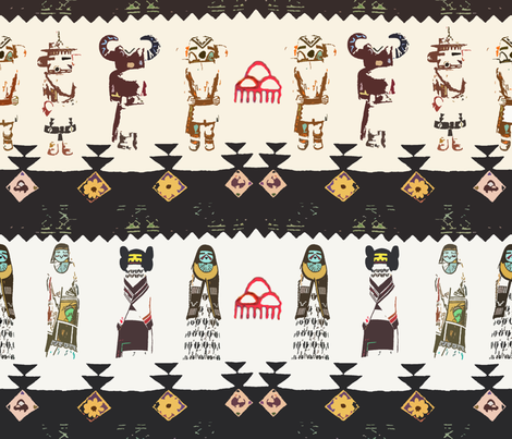 Kachina Tales fabric by patternbase on Spoonflower - custom fabric