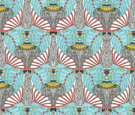Trippy Trolls! fabric by patternbase on Spoonflower - custom fabric