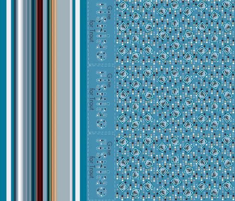 Gone_fishing_runner fabric by paragonstudios on Spoonflower - custom fabric