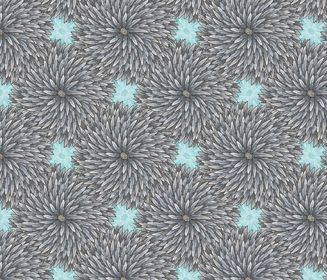Feather Flower fabric by siya on Spoonflower - custom fabric