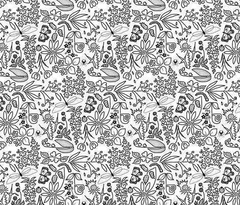 A_Crazy_Garden (please Zoom)  fabric by victorialasher on Spoonflower - custom fabric