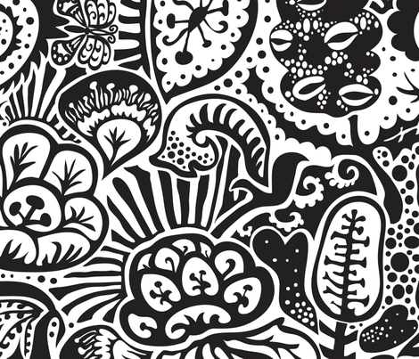 Shadow Garden (Large scale) fabric by bee&lotus on Spoonflower - custom fabric