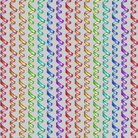 Rainbow Ribbons fabric by siya on Spoonflower - custom fabric