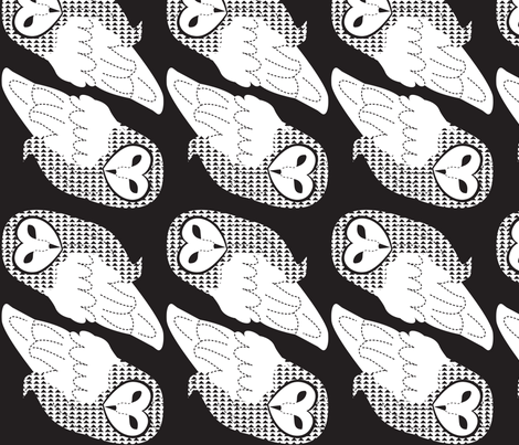 barnowlBW fabric by malien00 on Spoonflower - custom fabric