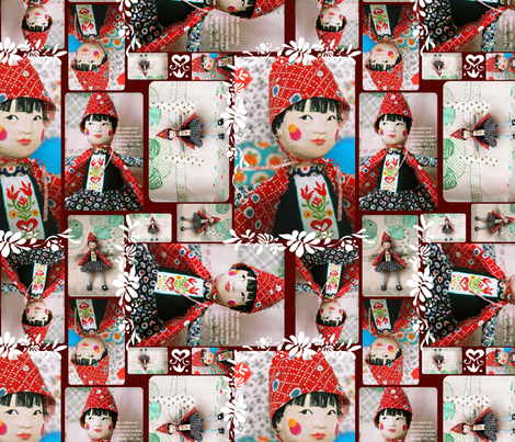 Little Red fabric by joybucket on Spoonflower - custom fabric