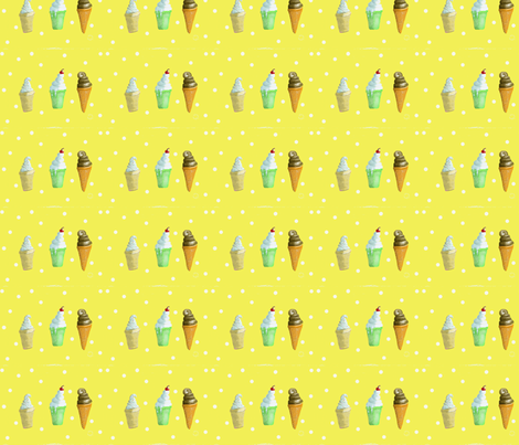 Ice Cream Cones Make me Happy! fabric by salzanos on Spoonflower - custom fabric
