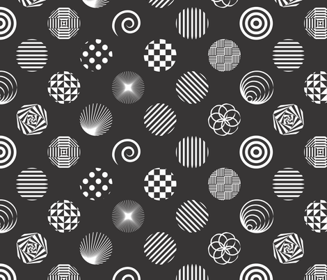 Illusionist Pois  (please ZOOM IN) fabric by majobv on Spoonflower - custom fabric
