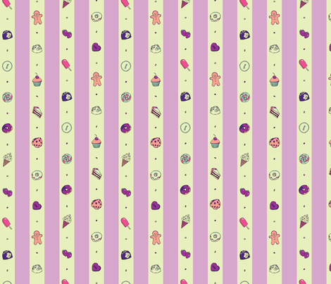 Saccharose Stripe (Purple) fabric by shirayukin on Spoonflower - custom fabric