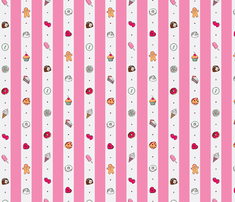 Saccharose Stripe (Pink) fabric by shirayukin on Spoonflower - custom fabric