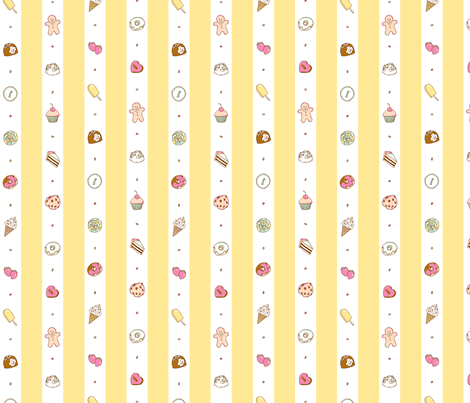 Saccharose Stripe (Pastel) fabric by shirayukin on Spoonflower - custom fabric