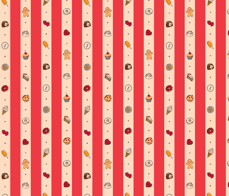 Saccharose Stripe (Red) fabric by shirayukin on Spoonflower - custom fabric