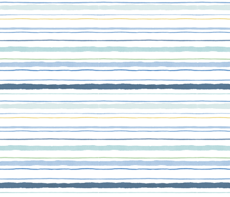 painted_sailor_stripe fabric by nicoletamarin on Spoonflower - custom fabric
