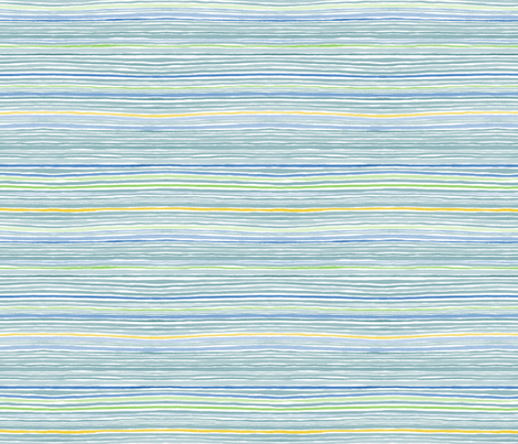 Sailor Multi Stripe fabric by nicoletamarin on Spoonflower - custom fabric