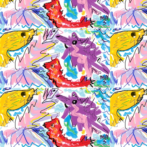 deep_sea_fish_my_marilyn_sturner_2011_april_25-ed fabric by mailyn on Spoonflower - custom fabric