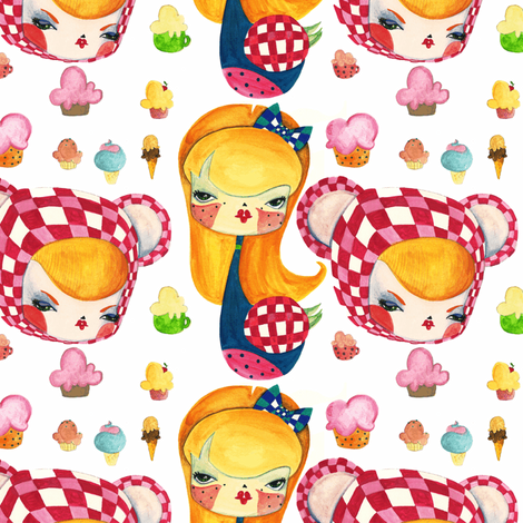 ANTHROPOMORPHIC CANDY fabric by kipuruki on Spoonflower - custom fabric