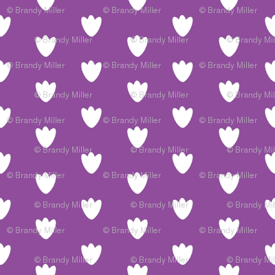 Purple Blossom Dots